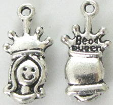 Crown - Silver Bead Queen Charm