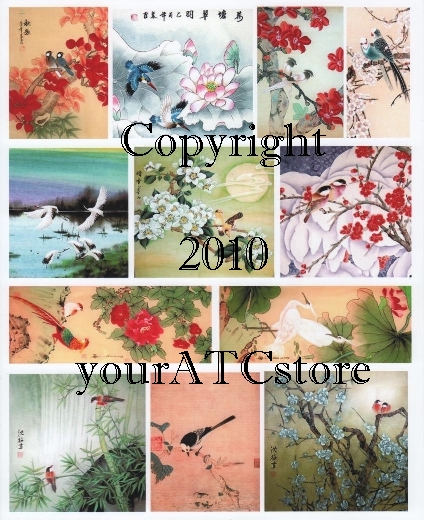 yourATCstore Birds of the Orient Collage Sheet