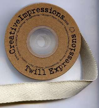 Creative Impressions Twill Ribbon by the Yard 1/2 in. Ivory