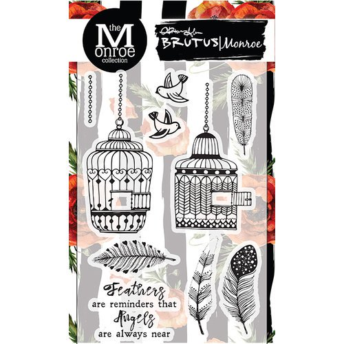 *NEW Brutus Monroe Angel Wings Clear Acrylic Stamp Set