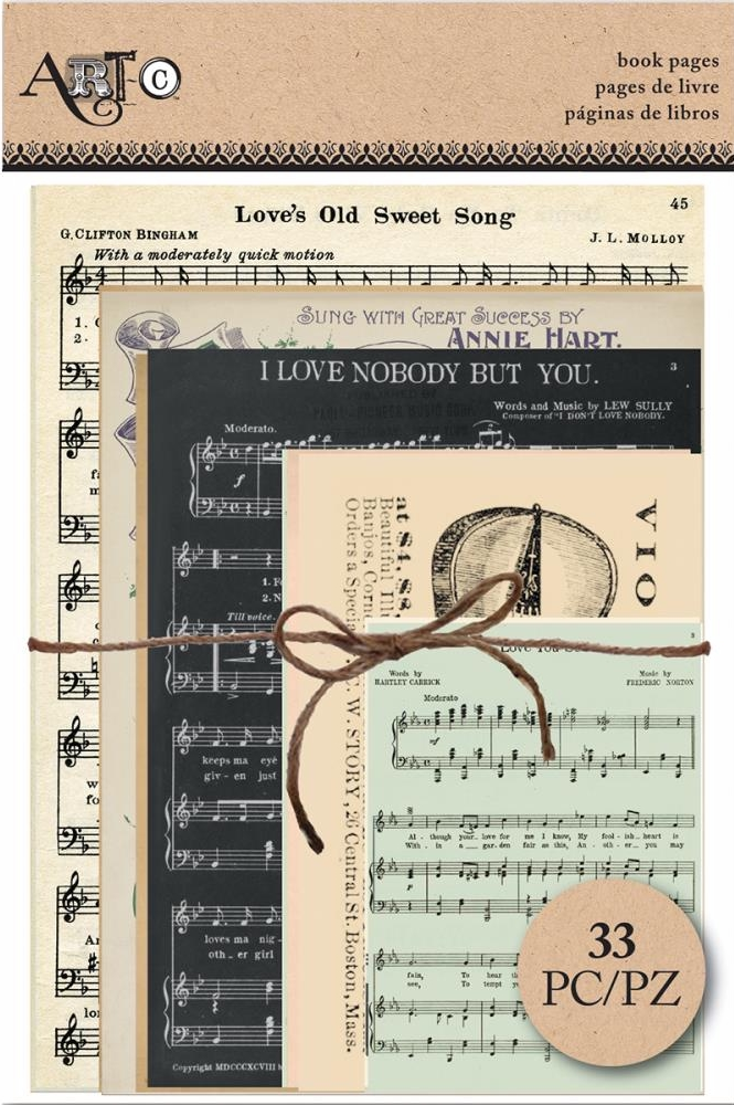 *NEW Art-C Book Pages - Music