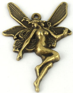 Fairy - Dragonfly Bronze/Antique Gold Mini Fairy Charm
