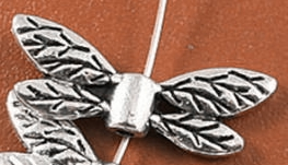 Butterfly Wings Bead - Silver