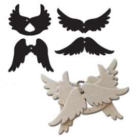 Maya Road Chipboard Keychain Set - Wings
