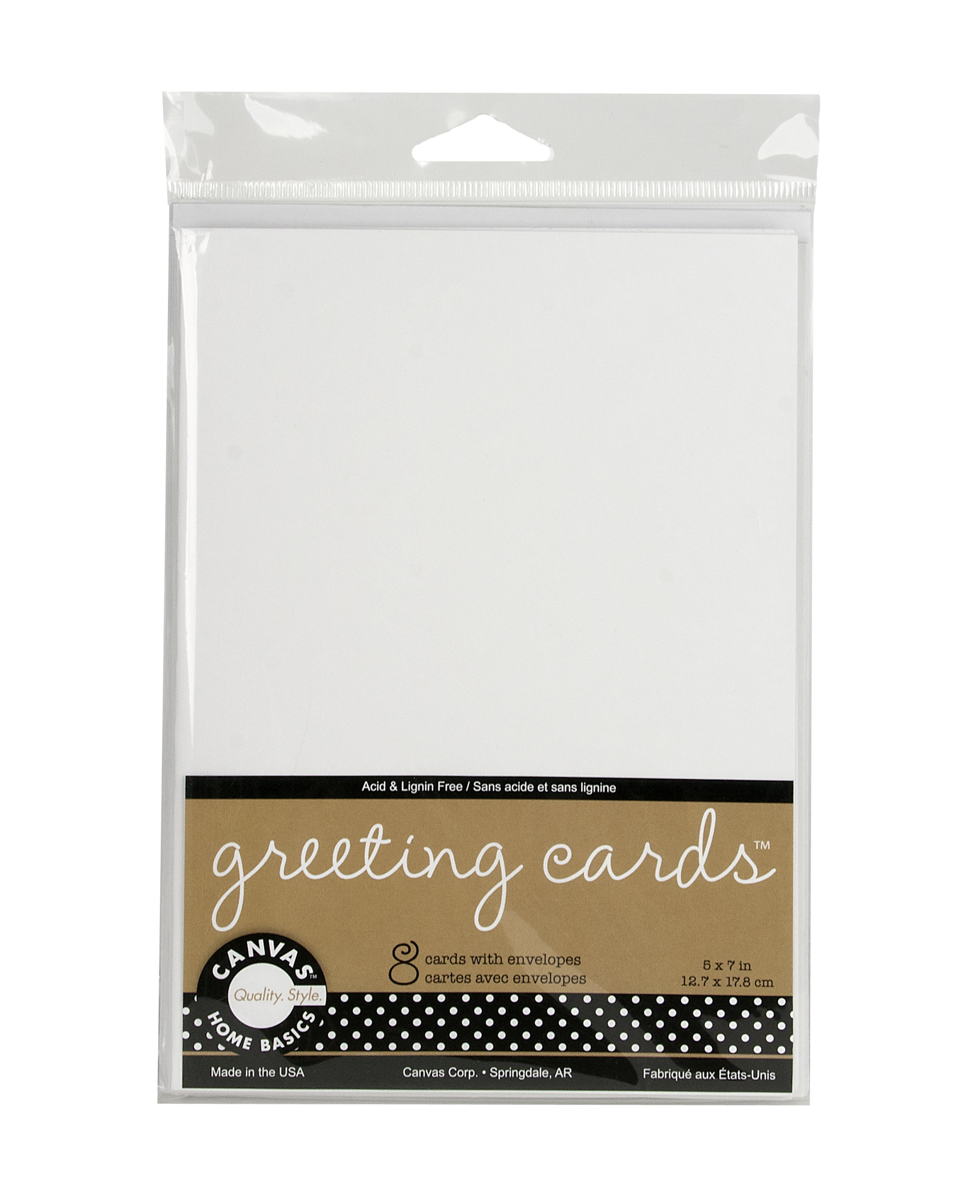 Canvas Corp. - 8 White ATC Size Gift Cards & Envelopes