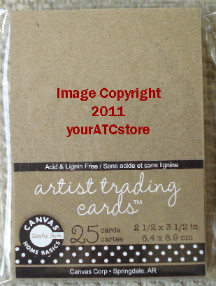Canvas Corp. Kraft Paper Artist Trading Cards 25/Pkg.