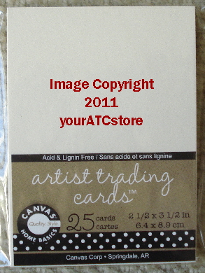 Canvas Corp. Ivory Paper Artist Trading Cards 25/Pkg.