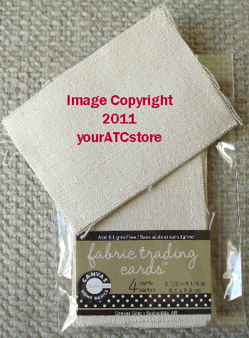 Canvas Corp. Cream Canvas Artist Trading Cards 4/Pkg.