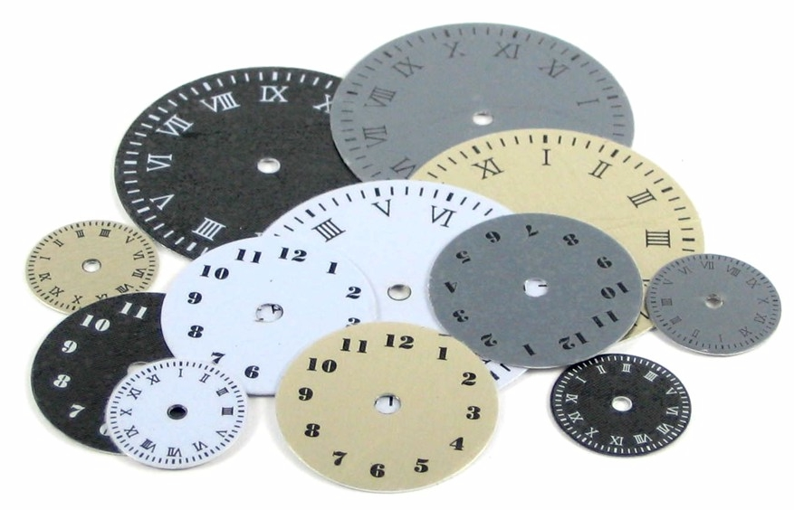 The Paper Studio Spare Parts Clock Face Icon Dials 12/pkg.