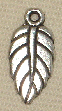Halloween/Fall Silver Leaf Charm