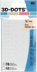 EK Success 3-D Circle Adhesive Foam Pop Dots - 126 Circle Dots