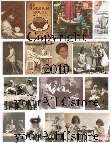 yourATCstore Coffee or Tea Anyone? Collage Sheet #1