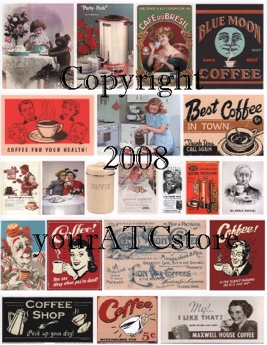 yourATCstore Coffee Time Collage Sheet