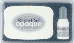 Tsukineko StazOn Solvent Stamp Pad Large Opaque - Cotton White