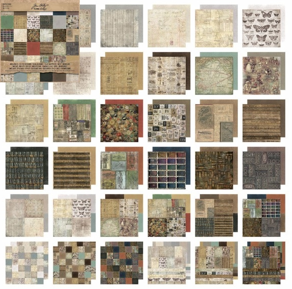 Tim Holtz Idea-ology Paper Stash - 12 x 12 Crowned Attic w/ ATCs