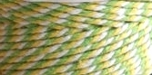 Baker's Twine Cording Lime Green, Yellow & White Striped - 5 yds