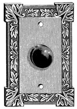 Unmounted Rubber Stamp Doorknob #9
