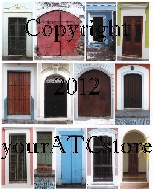 yourATCstore Doors from Afar 1 Collage Sheet