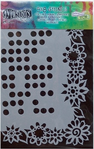 Ranger's Dyan Reaveley Dylusions Stencils - Dotted Flowers