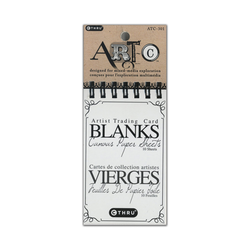 Art-C Artist Trading Card Blank Canvas Paper Sheets Tablet