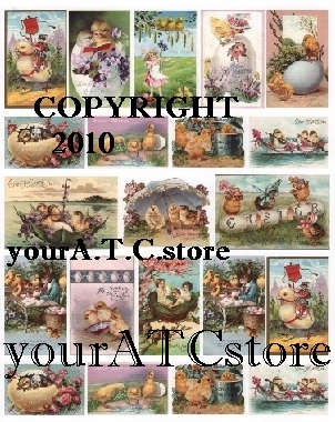 yourATCstore Easter Chicks Collage Sheet