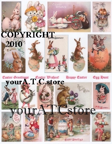 yourATCstore Easter Greetings Collage Sheet