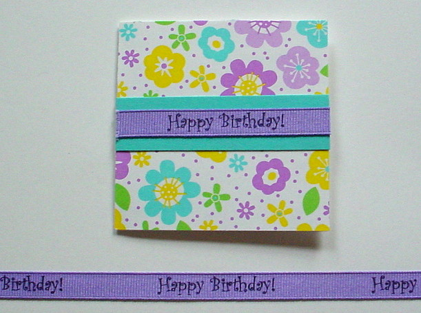 Creative Impressions Grosgrain Happy Birthday Ribbon by the Yd.