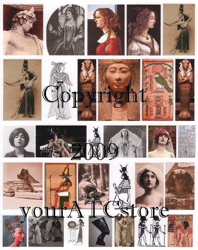 yourATCstore Egyptian Style Collage Sheet