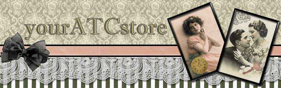 ATC and Pocket Letter Kits - products logo text - Artist Trading Card Kit of the Month - May 2014 Coffee Theme