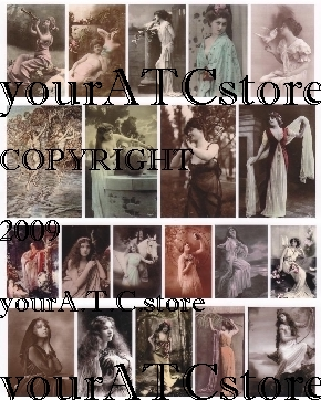 yourATCstore Enchanted Goddesses Collage Sheet #1
