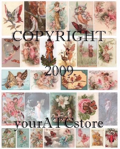 yourATCstore Fairyland Fairies Collage Sheet