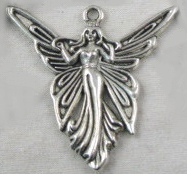Fairy - Butterfly Fairy Charm - Silver Small