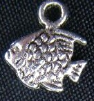 From the Ocean - Silver Fish Charm - Small