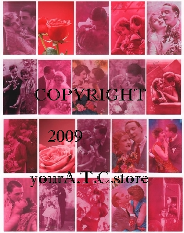 yourATCstore Flaming Hot Love Collage Sheet