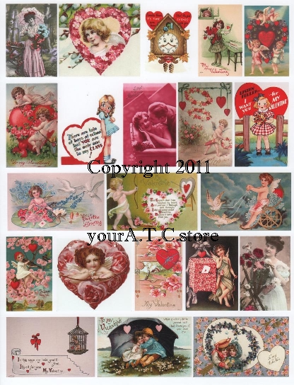 yourATCstore For My Valentine 1 Collage Sheet