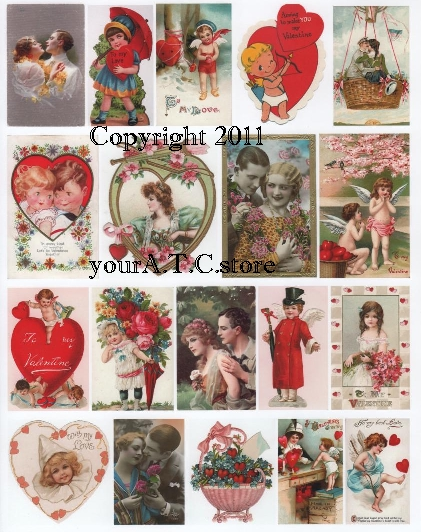 yourATCstore For My Valentine 2 Collage Sheet
