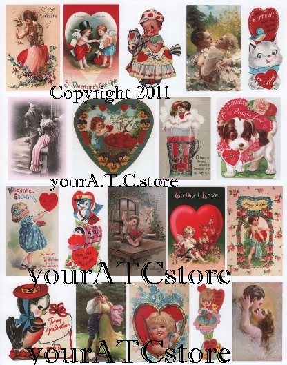 yourATCstore For My Valentine 3 Collage Sheet