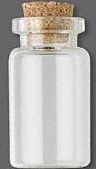 Glass Bottle 7/8 in. x 7/16 in. with Cork Stopper 1 in. w/ Cork