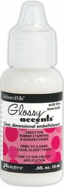 Ranger Inkssentials Glossy Accents Medium .5 oz. Small Size