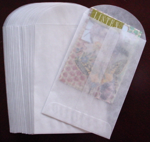20 - 3 X 4 3/4 Glassine Vellum Envelopes - 20/pkg.