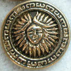 Fancy Sun Face Medallion Charm - Gold