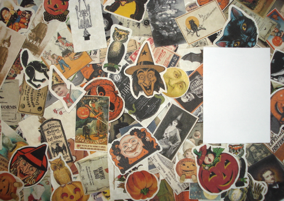 25 Fussy Cut Vintage Halloween Ephemera Reproductions Pieces
