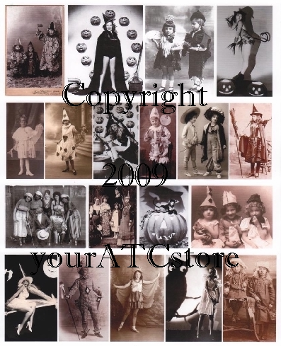 yourATCstore Halloween Costumes Collage Sheet