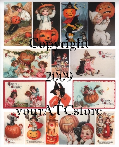 yourATCstore Halloween Cuties Collage Sheet
