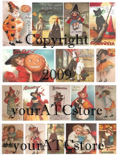 yourATCstore Halloween #1 Collage Sheet