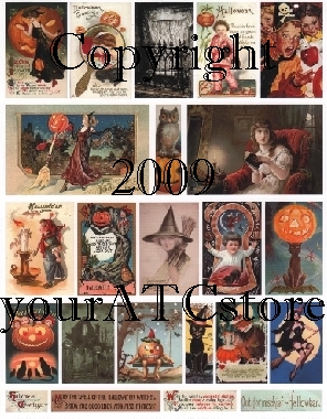 yourATCstore Halloween #3 Collage Sheet