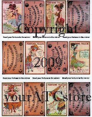 yourATCstore Halloween Read Your Fortune in Mirror Collage Sheet