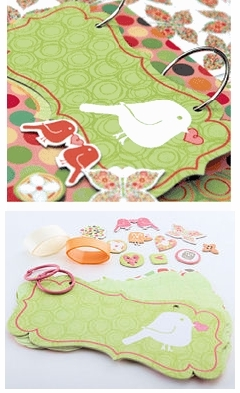 Chatterbox Scrapbook, Mini Bird Album Kit, Happy Day 40%OFF