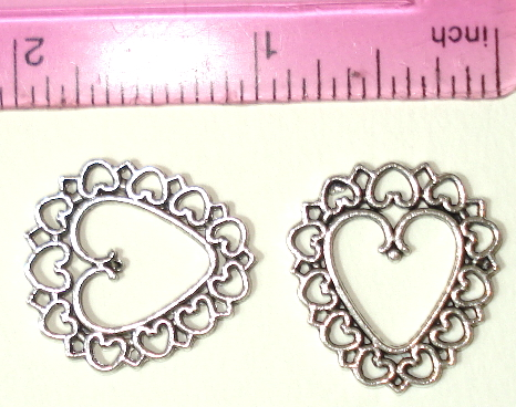 Heart - Silver 1 Inch Heart Made of Hearts