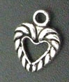 Heart - Small Silver Twist Heart Charm